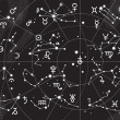 XII Constellations of Zodiac - Stockvectorbeeld