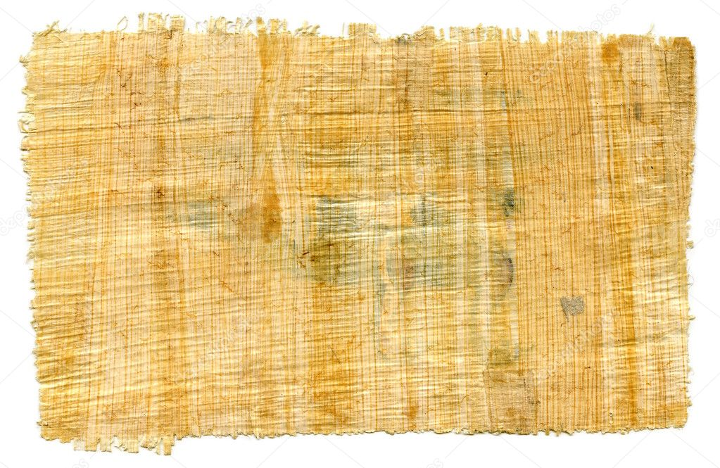 Ancient Egyptian Papyrus Paper Fragment of Egyptian papyrus