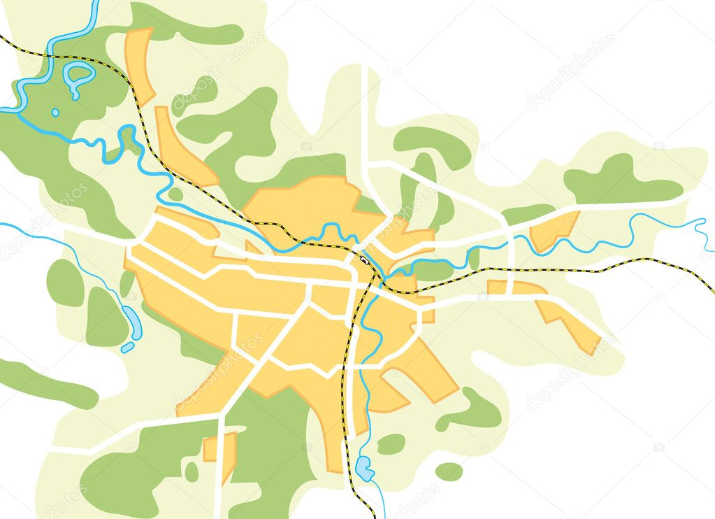 Vector Map of The City  Decorative background vector illustration EPS 8   Vector by Photon