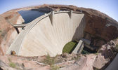 Glen Canyon Dam at Lake Powell & Page, AZ — Stock Photo