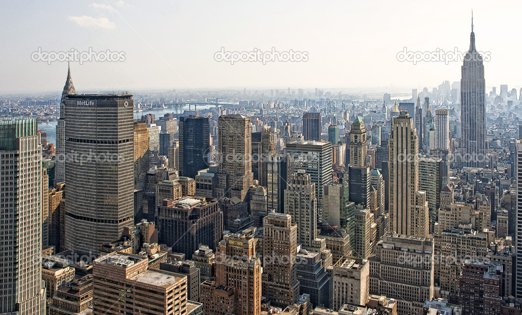 Manhattan skyline. New York City — Stock Photo #5151854