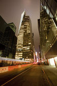 New York City at night — Stock Photo