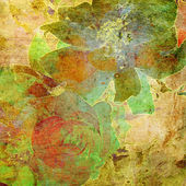 Kunst floral vintage kleurrijke achtergrond — Stockfoto