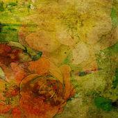 Arte floral vintage base colorida — Foto Stock