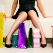 Young woman with shopping bags — Stock Photo #4172473