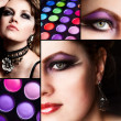 Makeup. Collage. — 图库照片