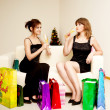 Royalty-Free Stock Photo: Two women celebrate christmas