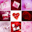 Valentine cards. Collage — Stock Photo