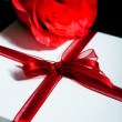 Stock Photo: Gift with rose