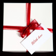 Present-box with note — Stock Photo #4687327