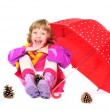 Child with umbrella - Stock Photo