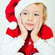 Thoughtful santa helper — Stock Photo #4370422