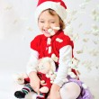 Fake snow for santa helper — Stock Photo #4370426