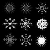 Abstract snowflakes winter vector illustration - eps10 — Stock Vector