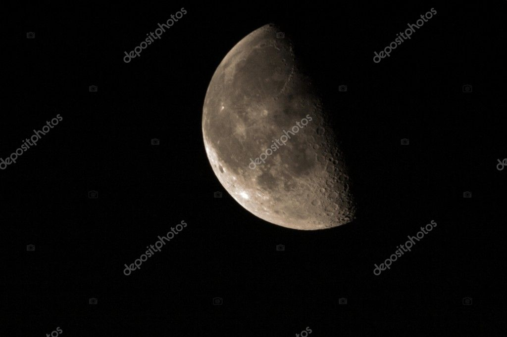 Half Moon on the night sky background 2  Stock Photo #5074958