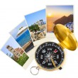 Greece shots and compass — Stock Photo