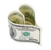 Money heart — Stock Photo