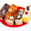 Cakes on a plate — Stock Photo