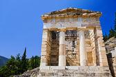 Ruins of the ancient city Delphi, Greece — Foto Stock