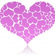 Big pink heart — Stock Vector