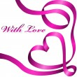 Pink valentine decoration ribbon — Stockvector #4722937