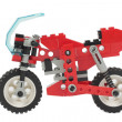 Stock Photo: Lego toy motorcycle