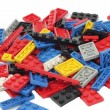 Stock Photo: Constructor lego background