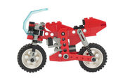Lego toy motorcycle — Stock Photo