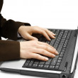 Hands on the laptop — Stock Photo #4373063