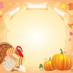 Thanksgiving postcard — Stock Photo