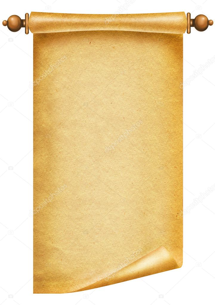 Old paper texture.Scroll background for design on white. — Stock Photo #4538808