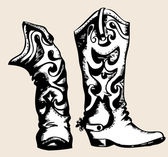 Cowboy shoes — Vector de stock