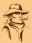 Человек портрета — Cтоковый вектор