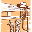 Stock Vector: Cowboy clothes