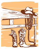 Cowboy clothes — Stock Vector