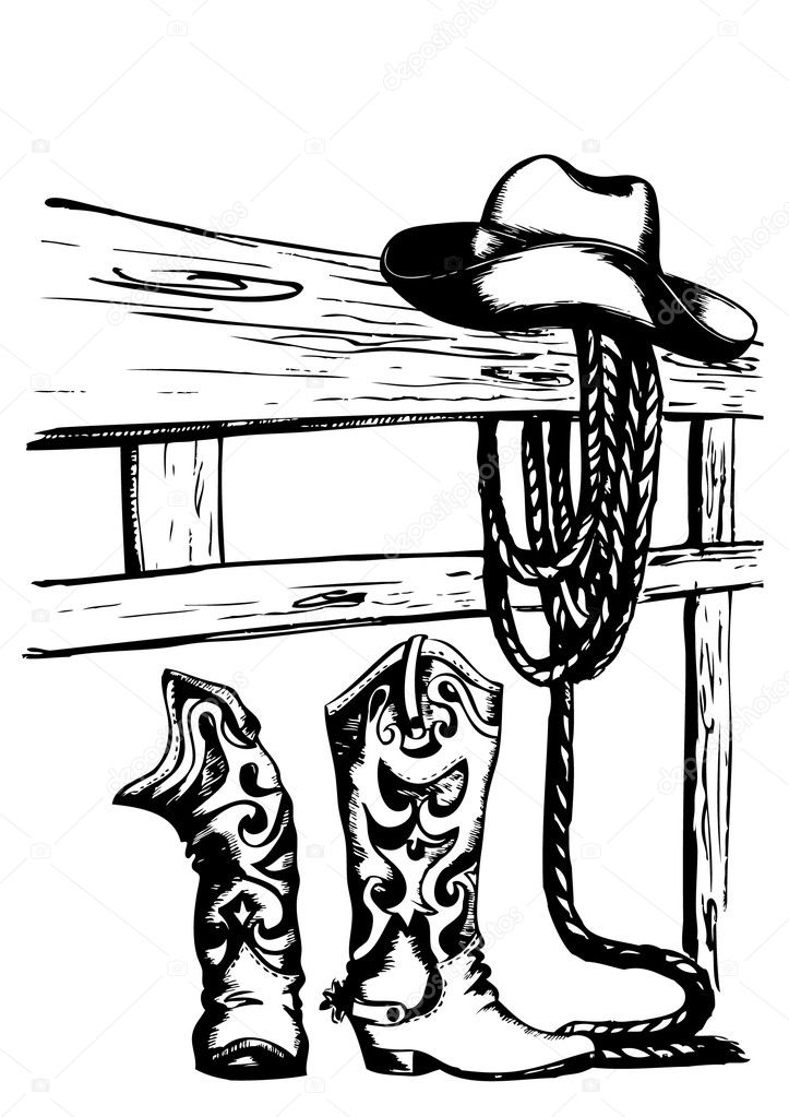 Vector cowboy elements   Stock Vector #4745419