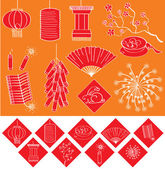 Chinese new year elements — Stock Vector
