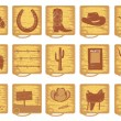 Vector cowboy symbols for design - Stock Vector
