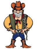 Cowboy — Vecteur