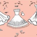 Fashon dresses — Stock Vector