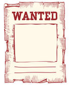 Vector wanted poster image on white — Stock Vector