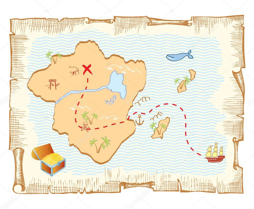 Карта сокровищ своими руками Лука Онлайн 21