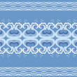 Waves decoration.Vector blue stylized design — Vettoriali Stock