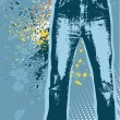 Royalty-Free Stock Vector Image: Jeans background.Vector gunge denim