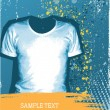 Man&#039;s t-shirt.Vector grunge background for design with fashion e - Stock Vector