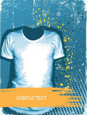 Man's t-shirt.Vector grunge background for design with fashion e — Vecteur