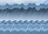 Rain in sea.Vector water landscape — Stock Vector