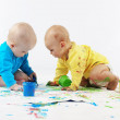Babies painting — Stock Photo #3944847