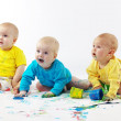 Babies painting — Stock Photo #3944849