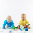Royalty-Free Stock Photo: Babies painting